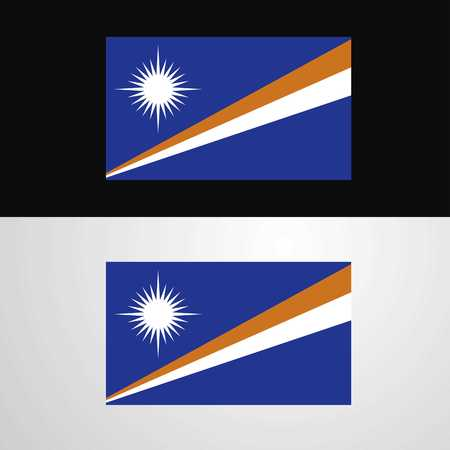Marshall Islands Flag banner design Çizim