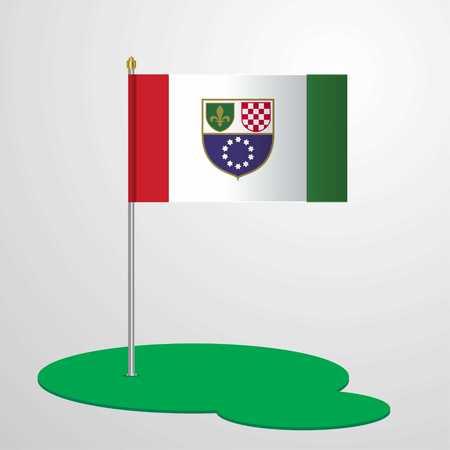 Bosnia and Herzegovina Flag Pole