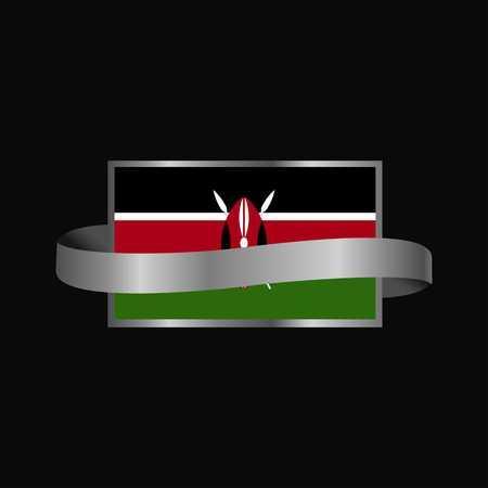 Kenya flag Ribbon banner design 写真素材 - 111194152