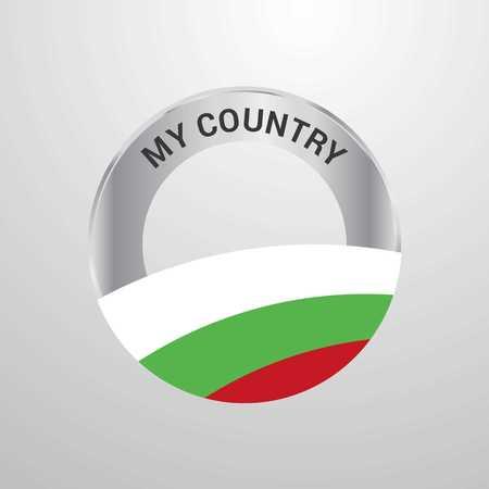 Bulgaria My Country Flag badge
