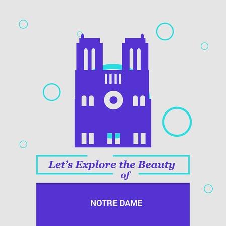 Let's Explore the beauty of Notre Dame Paris, France National Landmarks