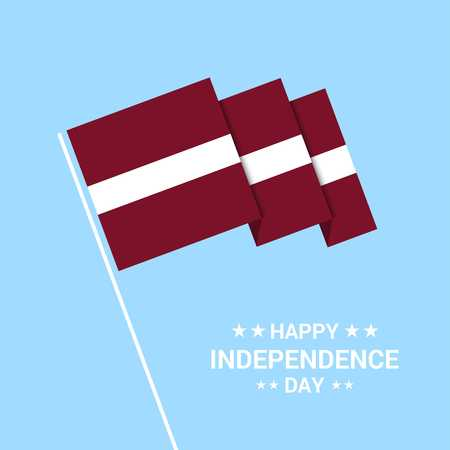 Latvia Independence day typographic design with flag vector