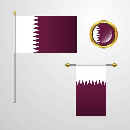 Qatar Stock Vector - 118299616