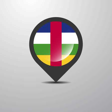 Central African Republic Map Pin 일러스트