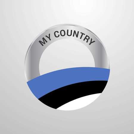 Estonia My Country Flag badge