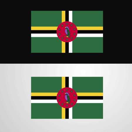 Dominica Flag banner design Vektorové ilustrace