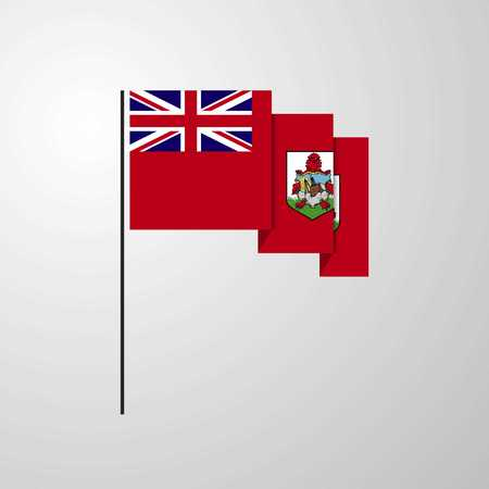 Bermuda waving Flag creative background
