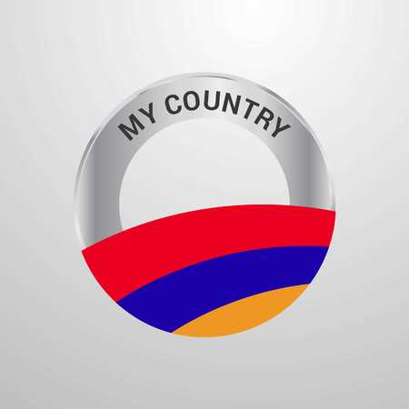 Armenia My Country Flag badge