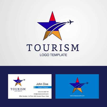 Travel Armenia flag Creative Star Logo and Business card design