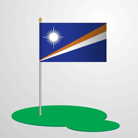 Marshall Islands Flag Pole