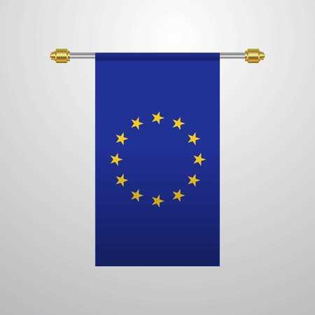 European Union hanging Flag 일러스트
