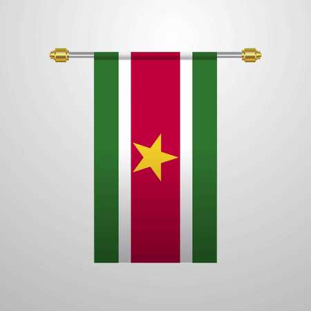Suriname hanging Flag
