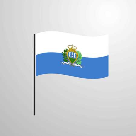 San Marino waving Flag Иллюстрация