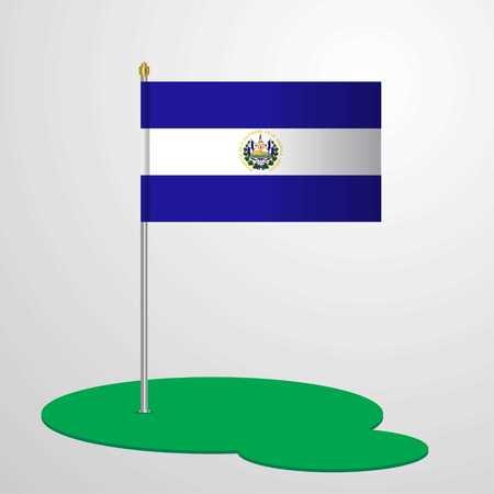El Salvador Flag Pole