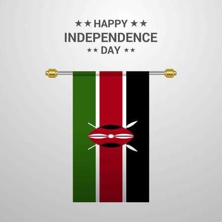 Kenya Independence day hanging flag background 写真素材 - 111261483