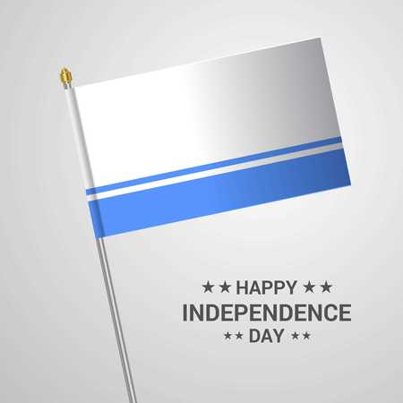 Altai Republic Independence day typographic design with flag vector