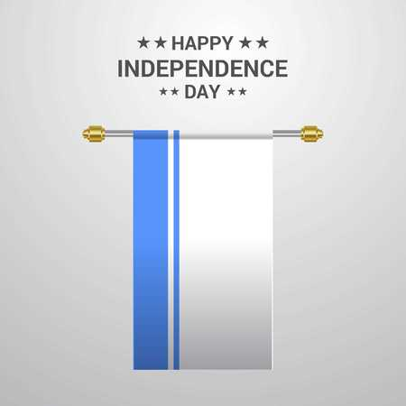 Altai Republic Independence day hanging flag background