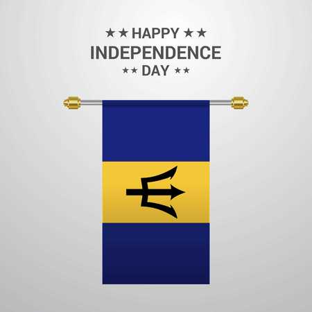 Fête de l'indépendance de la Barbade fond de drapeau suspendu