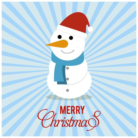Merry Christmas typography with santa clause and creative design vector