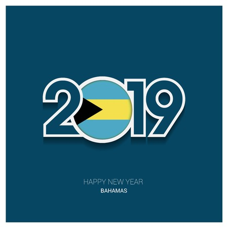 2019 Bahamas Typography, Happy New Year Background