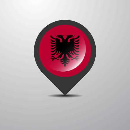 Albania Map Pin