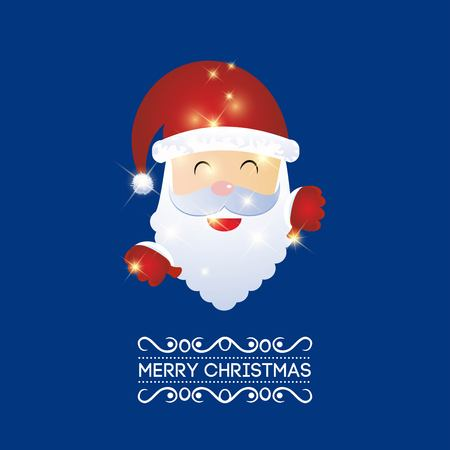 Merry Christmas creative design with blue background vector