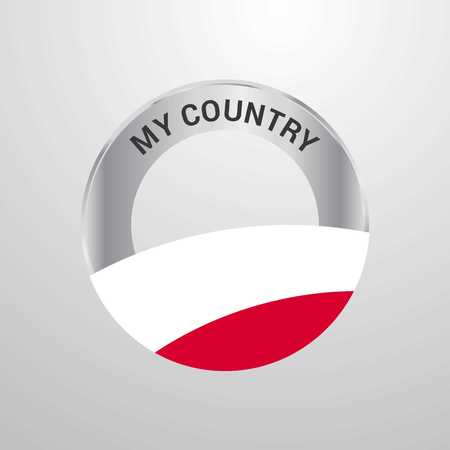 Poland My Country Flag badge Vektoros illusztráció