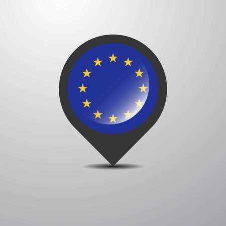 European Union Map Pin