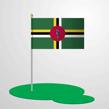 Dominica Flag Pole