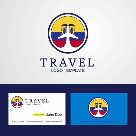Travel Easter Island Rapa Nui Creative Circle flag Logo and Business card design Foto de archivo - 111262117
