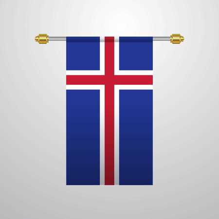 Iceland hanging Flag