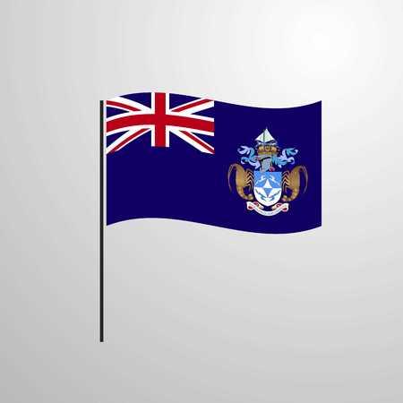 Tristan da Cunha waving Flag