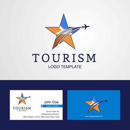 Travel Tierra del Fuego province Argentina flag Creative Star Logo and Business card design Logo