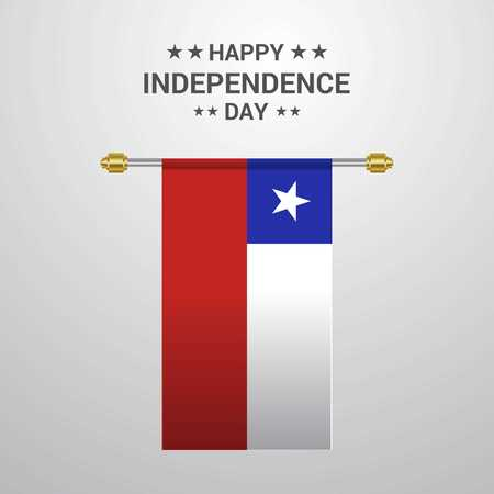 Chile Independence day hanging flag background