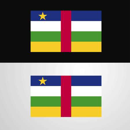 Central African Republic Flag banner design