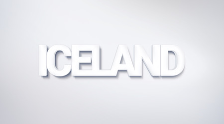 Iceland, text design. calligraphy. Typography poster. Usable as Wallpaper background