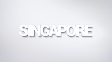 Singapore, text design. calligraphy. Typography poster. Usable as Wallpaper background