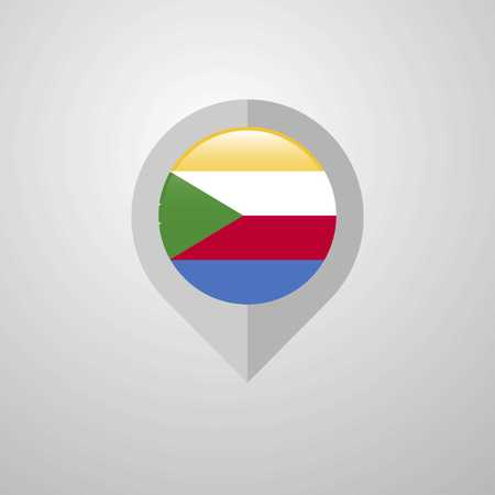 Map Navigation pointer with Democratic Republic of the Congo flag design vector