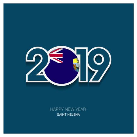 2019 Saint Helena Typography, Happy New Year Background