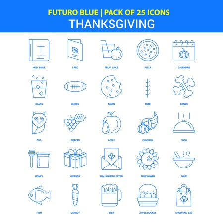 Thanksgiving  Icons - Futuro Blue 25 Icon pack
