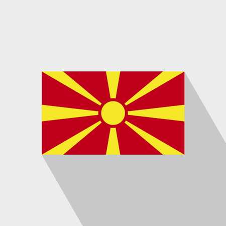 Macedonia flag Long Shadow design vector