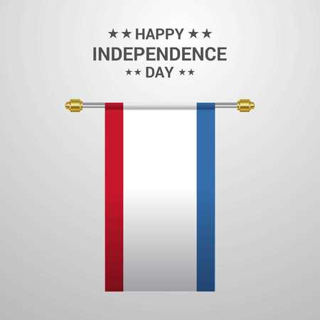 Crimea Independence day hanging flag background