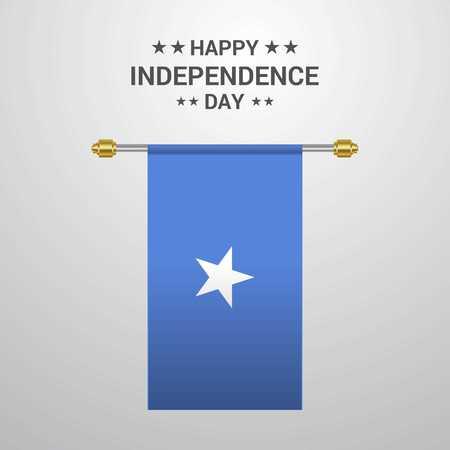 Somalia Independence day hanging flag background