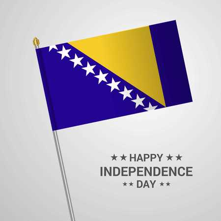 Bosnia and Herzegovina Independence day typographic design with flag vector Illustration