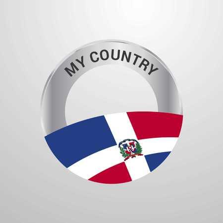 Dominikanische Republik My Country Flag Abzeichen