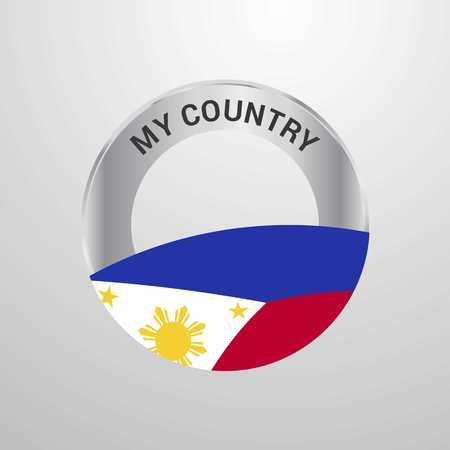 Phillipines My Country Flag badge