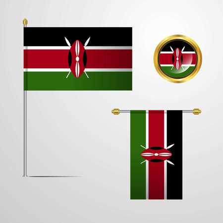 Kenya flag 写真素材 - 111444562
