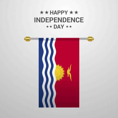 Kiribati Independence day hanging flag background