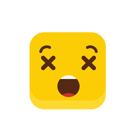 Dead Emoji icon design vector