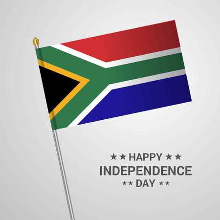 South Africa Independence day typographic design with flag vector